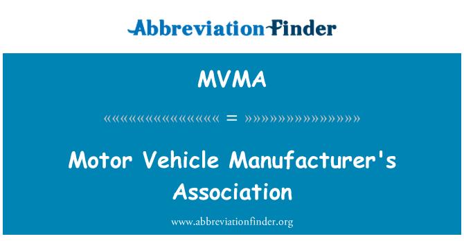 MVMA: Motorlu araç üreticisinin Derneği