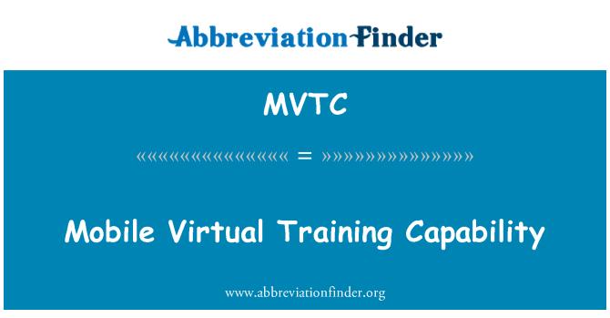 MVTC: Mobilní virtuální trénink schopnost
