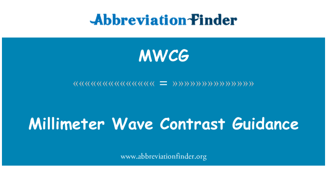MWCG: Millimeter Wave Contrast Guidance