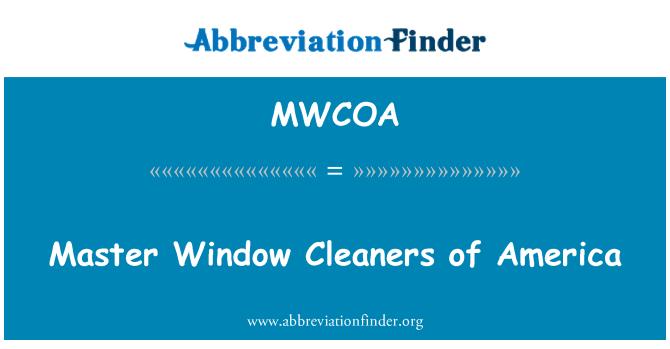 MWCOA: Master Window Cleaners of America