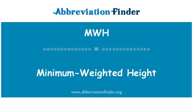 MWH: Minimum-Weighted Height