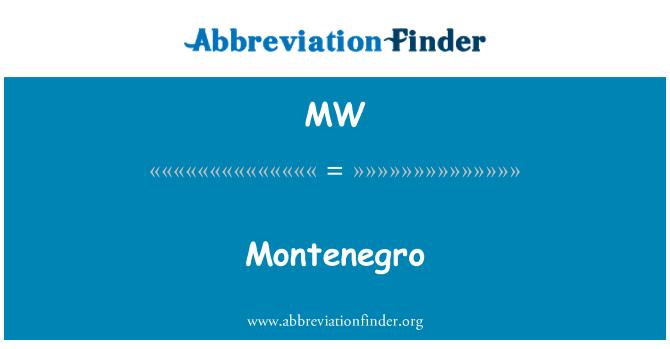 MW: Montenegro