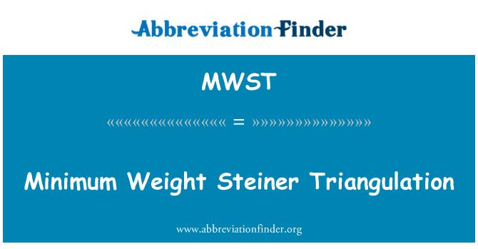 MWST: Minimaalne kaal Steiner triangulatsiooni