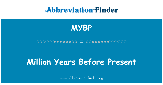 MYBP: Million Years Before Present