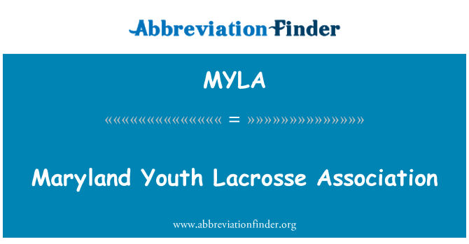 MYLA: Maryland Youth Lacrosse Association