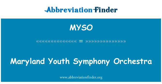 MYSO: Maryland Youth Symphony Orchestra