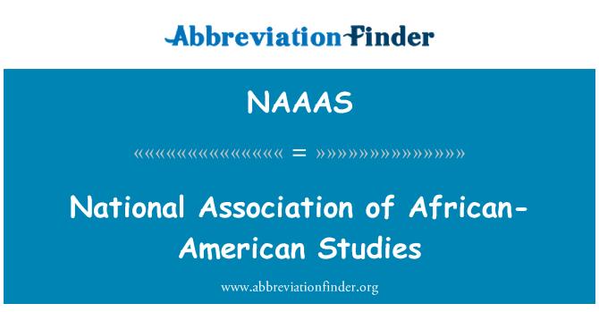 NAAAS: National Association of African-American Studies