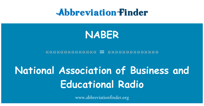NABER: National Association of Business and Educational Radio