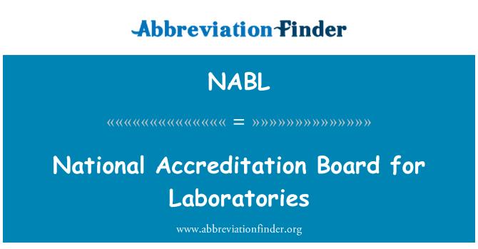 NABL: Consejo Nacional de acreditación para laboratorios