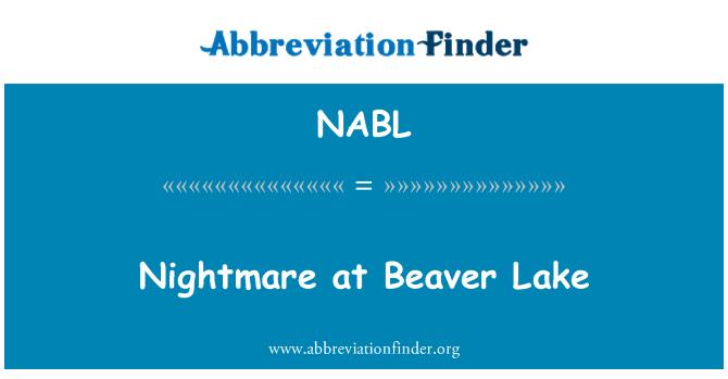 NABL: Pesadilla en el lago Beaver
