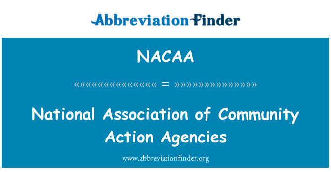 NACAA: National Association of Community Action Agencies