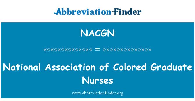 NACGN: National Association of Colored Graduate Nurses