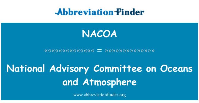 NACOA: Okyanus ve atmosfer Ulusal Danışma Kurulu