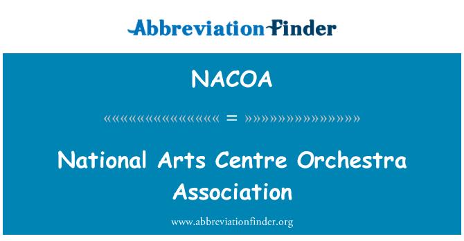 NACOA: National Arts Centre Orchestra Association