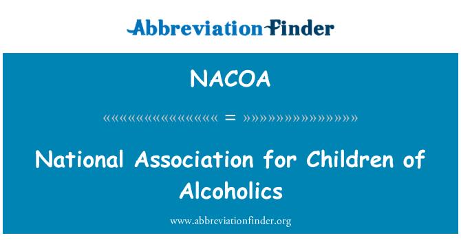 NACOA: Asociación Nacional para los niños de alcohólicos