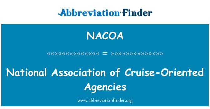 NACOA: National Association of Cruise-Oriented Agencies
