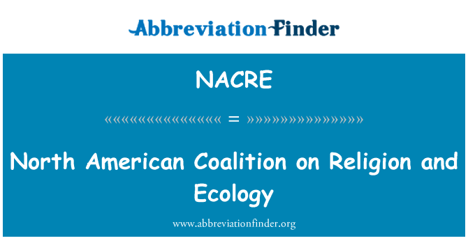NACRE: North American Coalition sobre religión y ecología