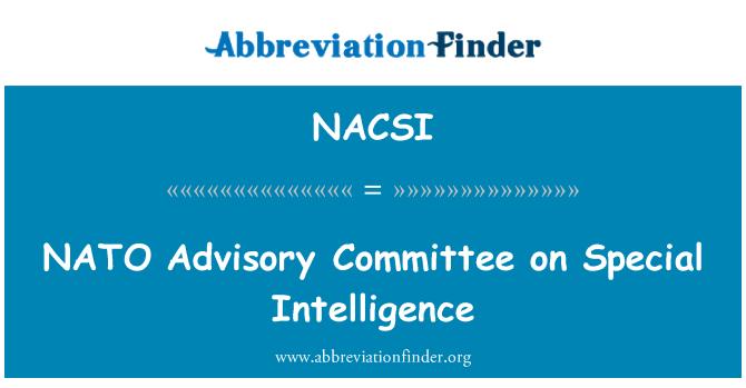 NACSI: Özel İstihbarat üzerine NATO Danışma Kurulu