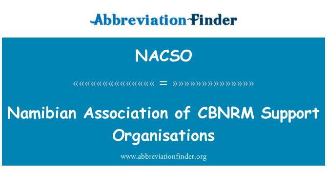 NACSO: Namibian Association of CBNRM Support Organisations