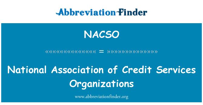 NACSO: 全国协会的信用服务机构