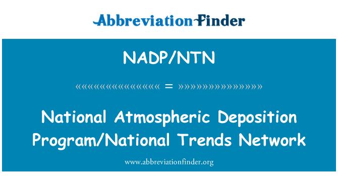 NADP/NTN: National Atmospheric Deposition Program/National Trends Network