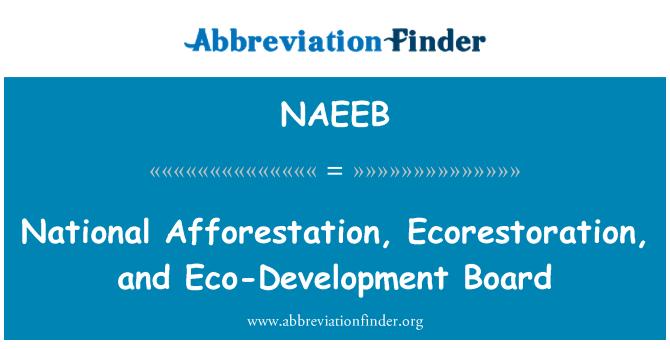 NAEEB: National Afforestation, Ecorestoration, and Eco-Development Board