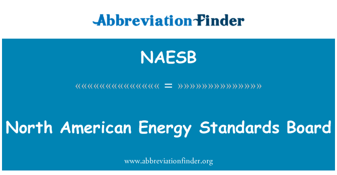 NAESB: North American Energy Standards Board