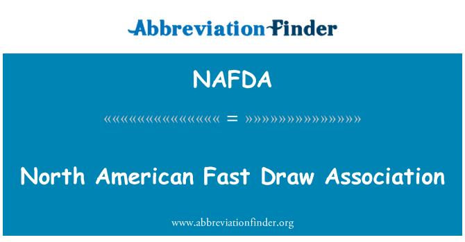 NAFDA: North American Fast Draw Association