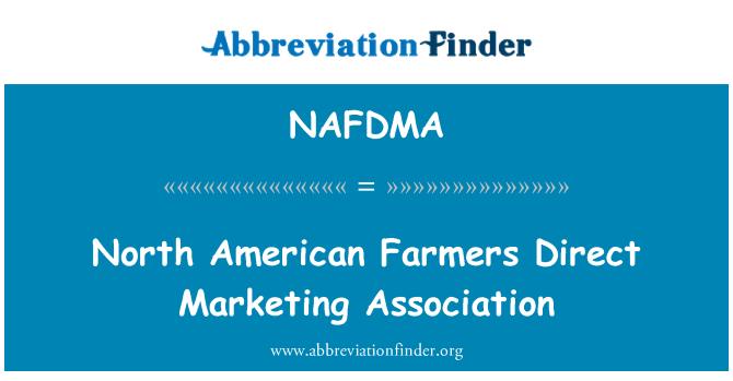 NAFDMA: North American Farmers Direct Marketing Association
