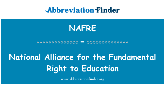 NAFRE: National Alliance for the Fundamental Right to Education
