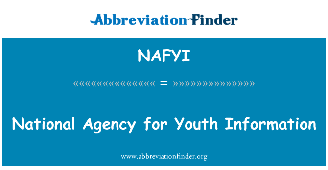 NAFYI: National Agency for Youth Information
