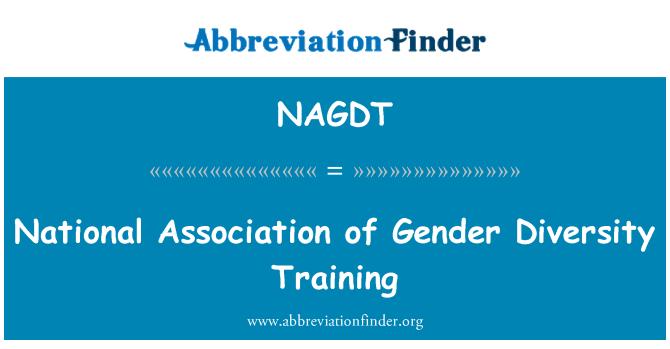 NAGDT: National Association of Gender Diversity Training