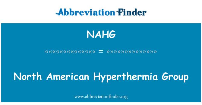 NAHG: North American Hyperthermia Group