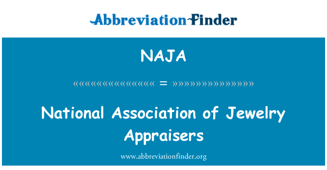 NAJA: National Association of Jewelry Appraisers