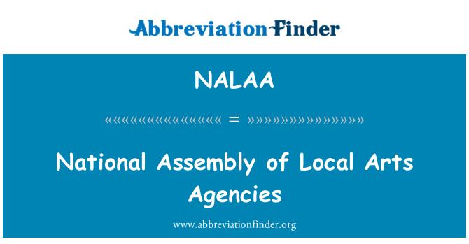 NALAA: National Assembly of Local Arts Agencies