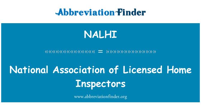NALHI: National Association of Licensed Home Inspectors