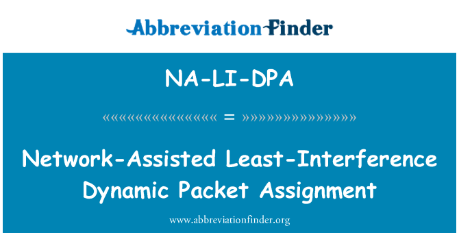 NA-LI-DPA: Network-Assisted Least-Interference Dynamic Packet Assignment
