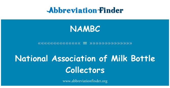 NAMBC: National Association of Milk Bottle Collectors