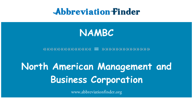 NAMBC: North American Management and Business Corporation