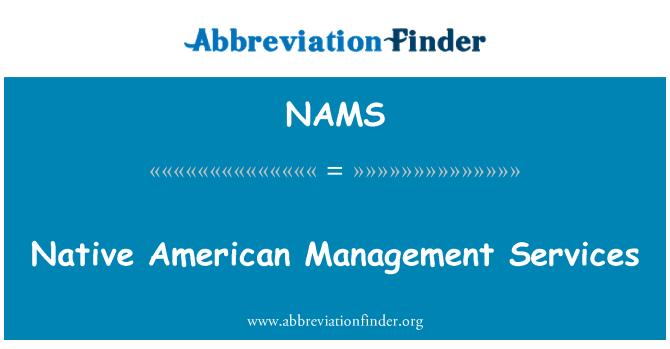 NAMS: Servicios de gestión de nativos americanos