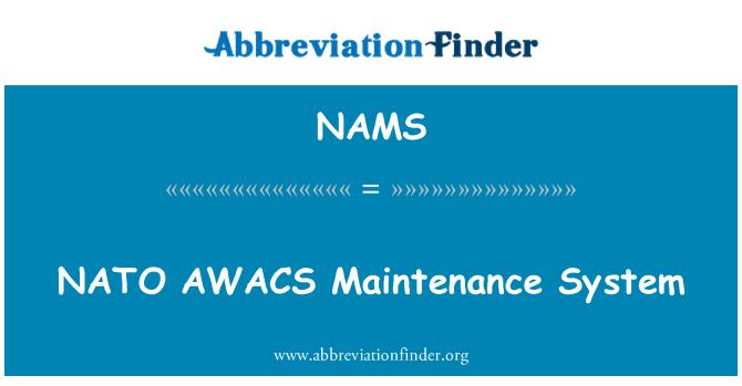 NAMS: Sistema de mantenimiento de AWACS de la OTAN