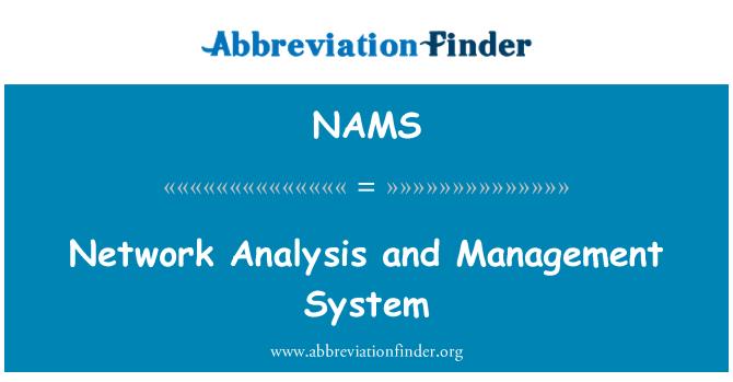 NAMS: Sistema de gestión y análisis de redes
