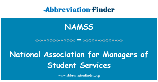 NAMSS: National Association for Managers of Student Services