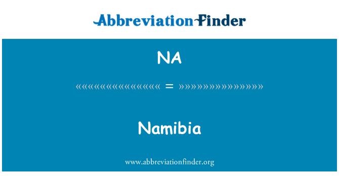 NA: Namibia