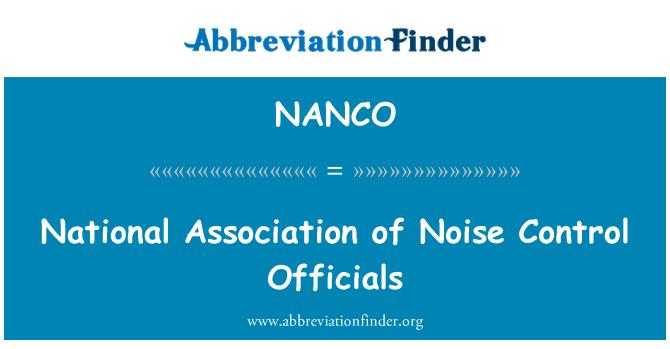NANCO: National Association of Noise Control Officials