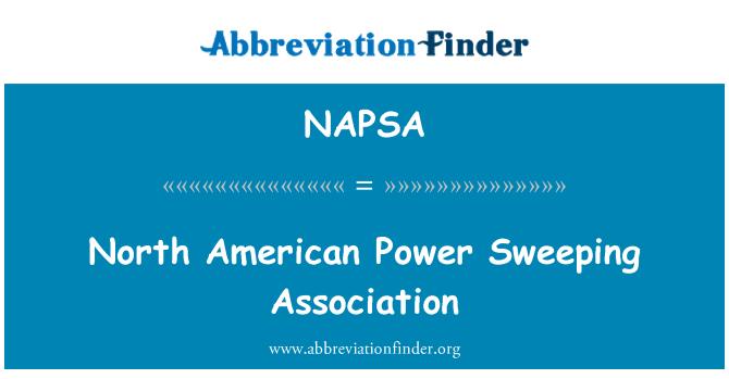 NAPSA: North American Power Sweeping Association