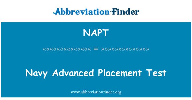 NAPT: Examen de colocación avanzada Marina