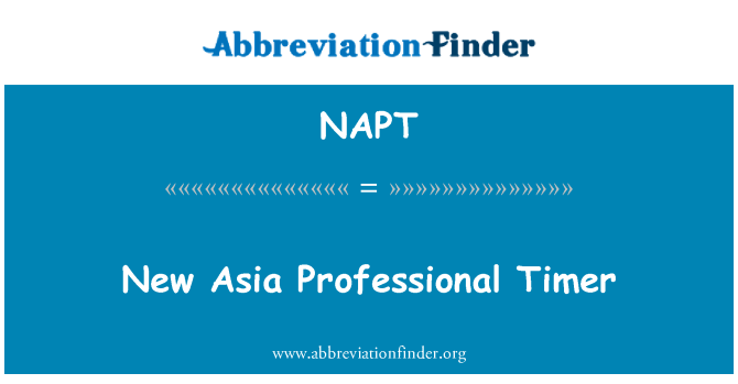 NAPT: Nuevo Asia temporizador profesional