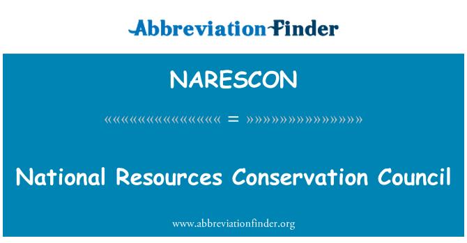 NARESCON: National Resources Conservation Council