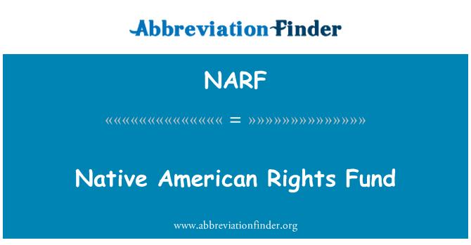 NARF: Amerikan yerli hakları Fonu